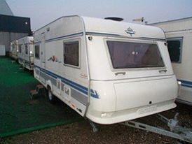 Pæn og velholdt campingvogn udlejes.
