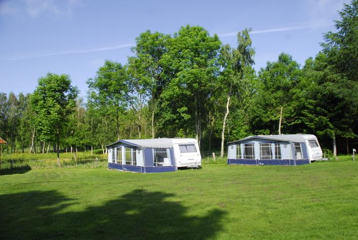 Campingvogn på Bøsøre Strand Feriepark